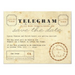 Vintage Telegram Save the Date 4.25x5.5 Paper Invitation Card