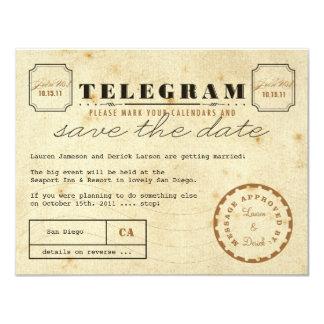 Vintage Telegram Save the Date Custom Invitations