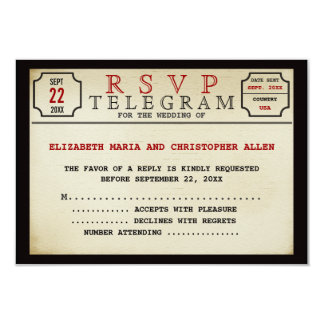 Vintage Telegram Style RSVP Announcement