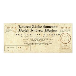 Vintage Telegram Tea Length Invitation