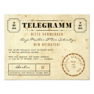 Vintage Telegramm Save the Date 4.25x5.5 Paper Invitation Card