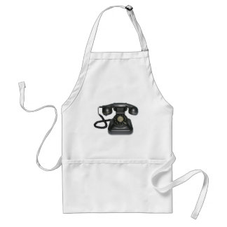 vintage telephone adult apron