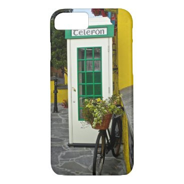 Vintage telephone booth and bicycle in Ireland iPhone 8/7 Case
