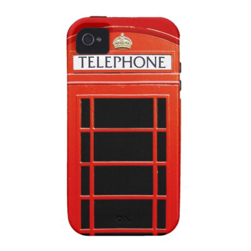 Vintage Telephone Booth iPhone 4/4S Case