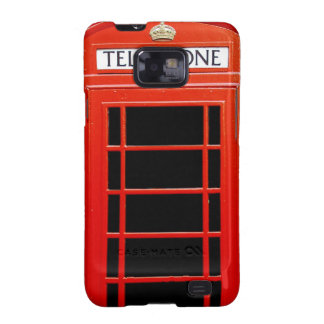 Vintage Telephone Booth Galaxy SII Covers