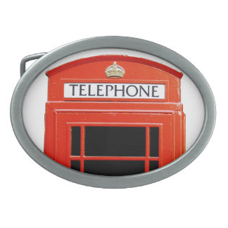Vintage Telephone Booth Oval Belt Buckle