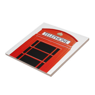 Vintage Telephone Booth Small Square Tile