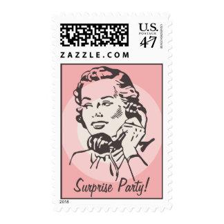 Vintage Telephone Chat Postage Stamp