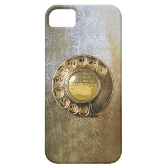 Vintage_Telephone_Dial 04 iPhone SE/5/5s Case