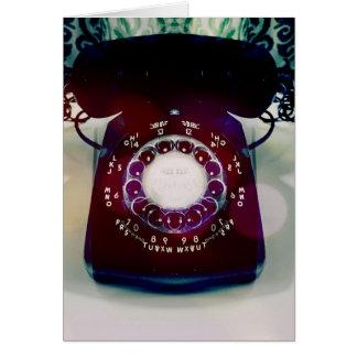 Vintage Telephone Greeting Card. Card