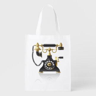 Vintage Telephone Grocery bag