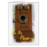 "Vintage Telephone ""I'm No Phone-y"" Love Card"