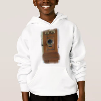 Vintage Telephone Kids Hooded Sweatshirt