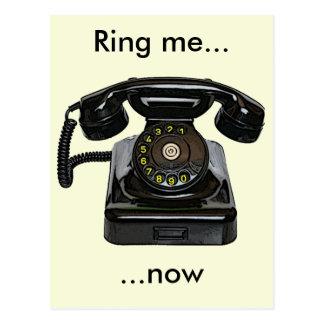 Vintage telephone postcard Ring me...now