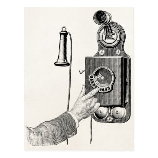 Vintage Telephones Illustration Phone Retro Phones Postcard