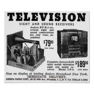 Vintage Television Advert Poster