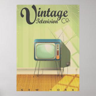 Vintage Television Co. Commercial Filter Poster