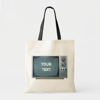 Vintage Television Set with Static Screen Tote Bag