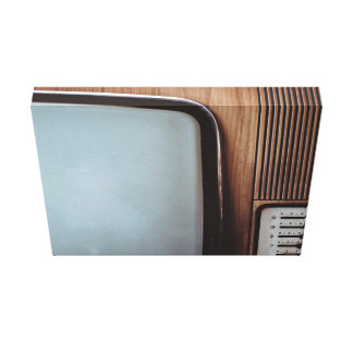 Vintage television with dials canvas print