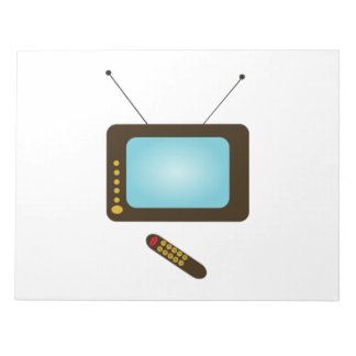 Vintage Television with Remote Memo Notepad