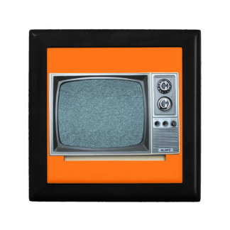Vintage Television with Static Screen Gift Box