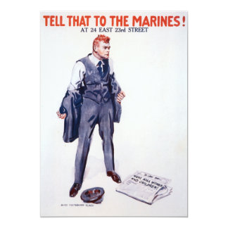 Vintage Tell that to the Marines Recruitment 5x7 Paper Invitation Card