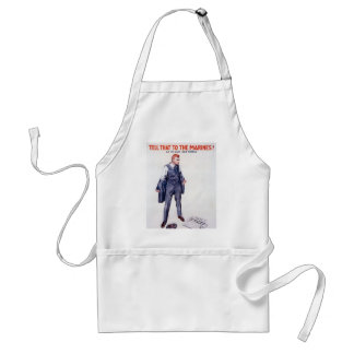 Vintage Tell that to the Marines Recruitment Adult Apron