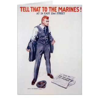 Vintage Tell that to the Marines Recruitment Greeting Card