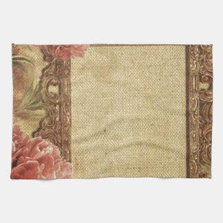 Vintage template,custom made,antique,floral,frame, towels