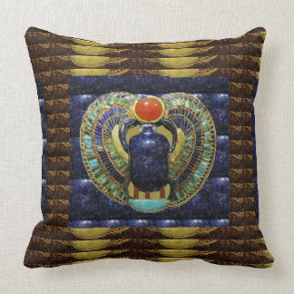 VINTAGE Temple Arts from Egypt PYRAMIDS Throw Pillow