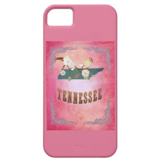 Vintage Tennessee State Map- Candy Pink iPhone SE/5/5s Case