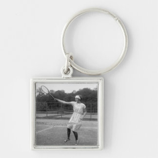 Vintage Tennis Outfit, 1920s Keychain