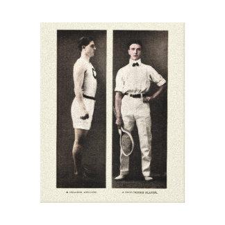 Vintage Tennis Player College Athlete Canvas Print