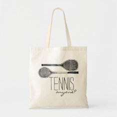 Vintage Tennis Rackets - Tennis Anyone? Tote Bag at Zazzle