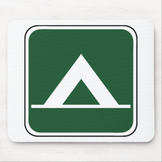 Vintage Tent Camp Sign Mouse Pads