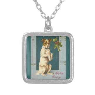 Vintage Terrier and Holly Personalized Necklace