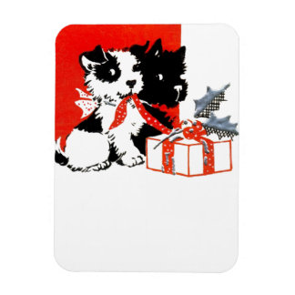 Vintage Terrier and Scotty with Gift Magnet