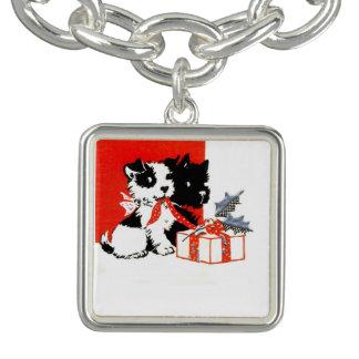 Vintage Terrier y Scotty con el regalo Pulsera