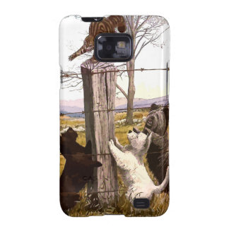 Vintage Terriers & Bobcat Samsung Galaxy S Case