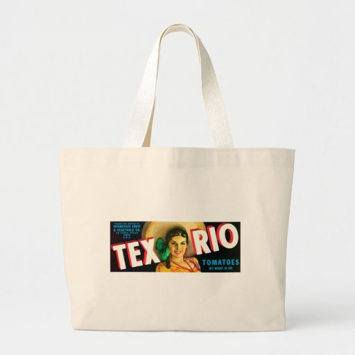 Vintage Tex Rio Tomatoes Label Tote Bags