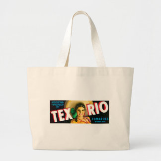 Vintage Tex Rio Tomatoes Label Large Tote Bag