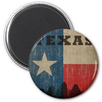 Vintage Texas 2 Inch Round Magnet