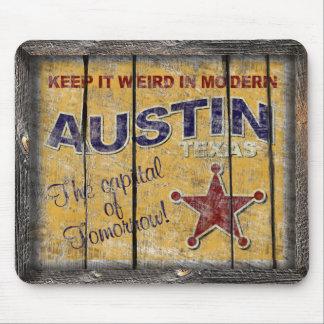 Vintage Texas - Austin Mouse Pad