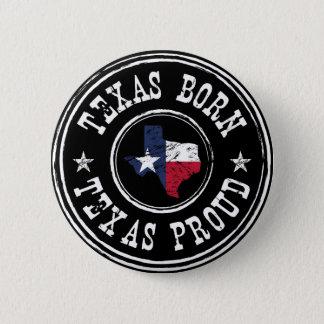 Vintage Texas born - Texas proud Button