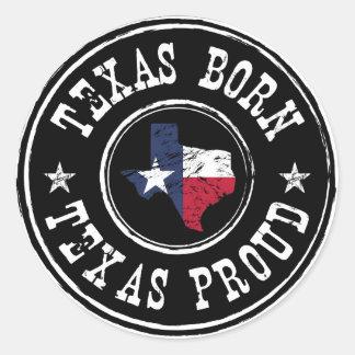 Vintage Texas born - Texas proud Classic Round Sticker