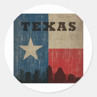 Vintage Texas Classic Round Sticker