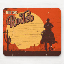 Vintage Texas Cowboy Rodeo Mouse Pad