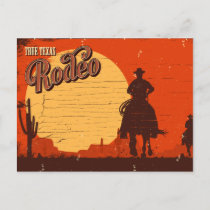 Vintage Texas Cowboy Rodeo Postcard