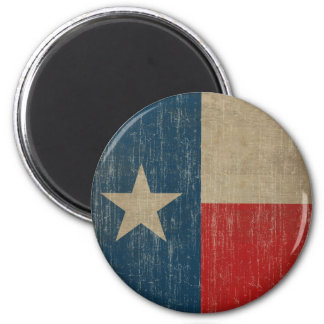 Vintage Texas Flag 2 Inch Round Magnet