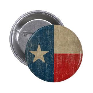 Vintage Texas Flag 2 Inch Round Button